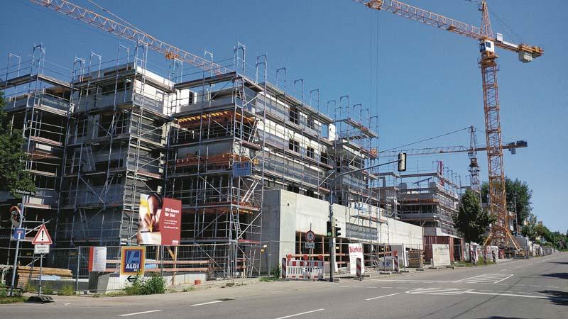 Bauunternehmer Stuttgart gesamte schalungstechnik vor ort der bauunternehmer